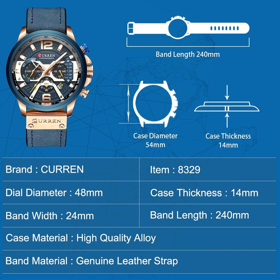 Watches Men CURREN Brand Men Sport Watches Men's Quartz Clock Man Casual Military Waterproof Wrist Watch relogio masculino 4