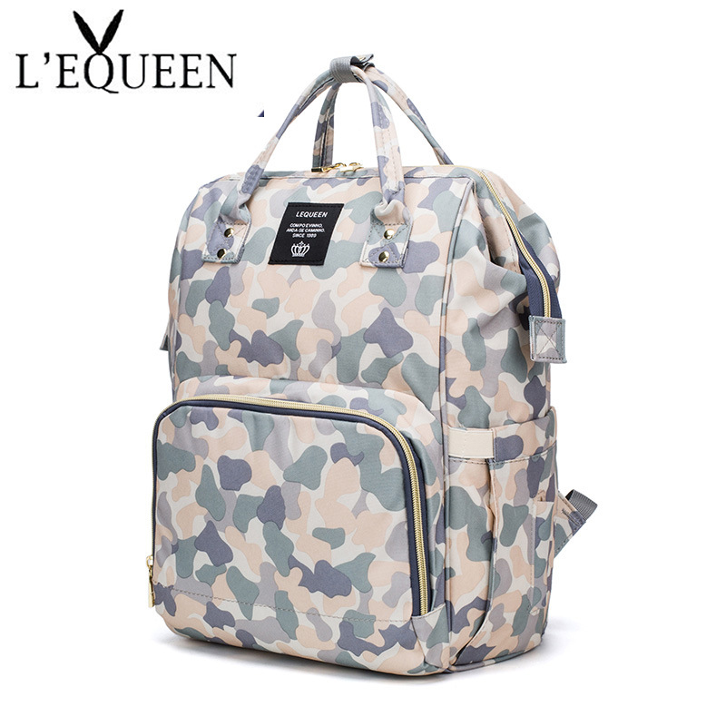 LEQUEEN Care Diaper Bag Multifunctional Mother's Bag Waterproof Backpack Pregnant Mum Travel Stroller Fashion Backpack Nappy Bag