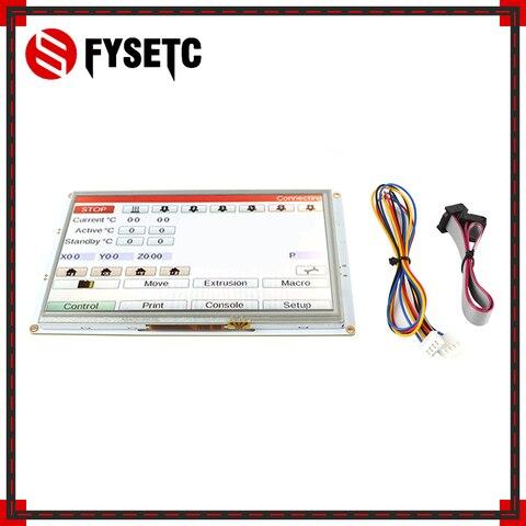 fysetc 7 controllers 7 7 polegadas paneldue 7i integrado paneldue cor controladores de tela sensivel