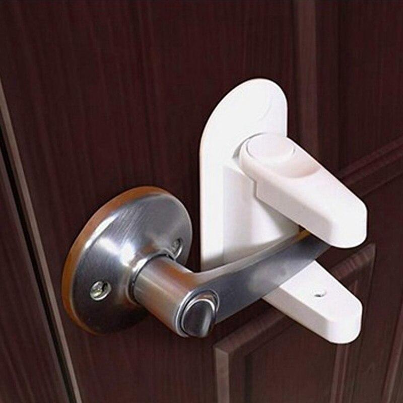 Newborn Kids Children Protection Doors Handle Lock Universal Adhesive Compatible Professional Baby Safety Lock Door Lever