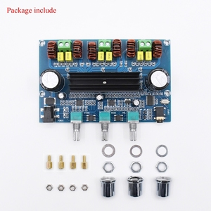 Image 4 - XH A305 Bluetooth 5.0 Audio Stereo Digital Power Amplifier Board TPA3116D2 50Wx2+100W 2.1 Channel Bass Subwoofer AMP Module