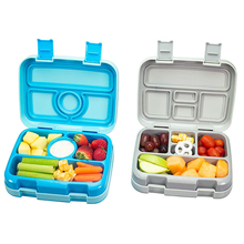 Microwavable Square Lunch Box For Kids Leakproof Food Container With Compartments BPA Free Lunchbox Picnic School