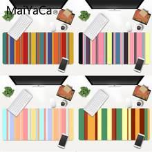 Maiyaca красивые цветные полосы резиновый коврик для мыши игровой