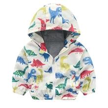 цена Spring Autumn Children Coat Kids Jacket Boys Girls Outerwear Boy Long Sleeved Cartoon Print Windbreaker Baby Clothing