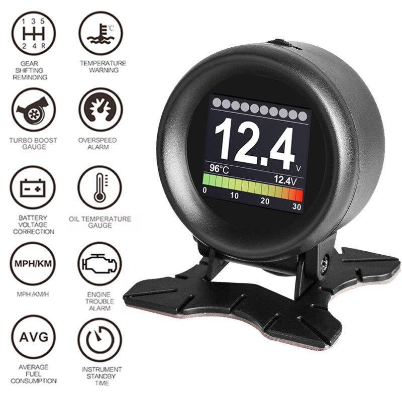 OBD HUD Head-Up Display Car-styling Computer Display Overspeed Warning Windshield Projector Smart Digital Car Speedometer