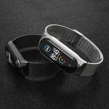 Band Voor Xiaomi Mi Band 6 5 Horloge Band Metalen Correa Miband 4 Nfc Armband Opaska Voor Mi 3 Band