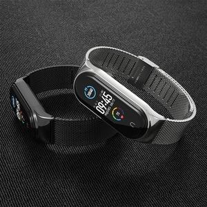 Image 1 - Band Voor Xiaomi Mi Band 6 5 Horloge Band Metalen Correa Miband 4 Nfc Armband Opaska Voor Mi 3 Band