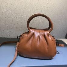 Маленькая женская сумка из мягкой натуральной кожи Повседневная