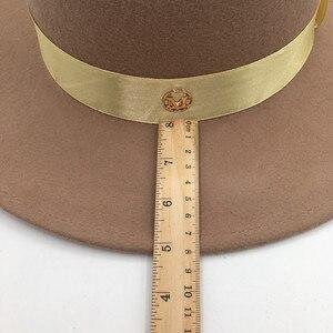 Image 5 - และอูฐขนสัตว์หมวกสำหรับผู้ชายและผู้หญิง joker แบนหมวกตัวอักษรแบน brim felt หมวก euramerican แฟชั่นหมวก Fedoras