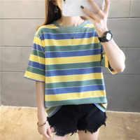 2020 Camiseta Mujer Ropa Mujer Harajuku Ropa Camiseta estilo coreano Camiseta Mujer verano Ropa Mujer manga corta