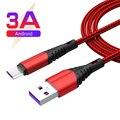 1m/2m/3m 3A Micro USB кабель для быстрой зарядки данных для Samsung Galaxy J6 A6 A7 J4 Plus Huawei OPPO Vivo PS4 контроллер Xbox One