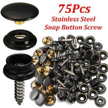 75pcs 25 Sets 15mm Snap Fastener Button Screw Studs Kit For Boat Cover Tent Kit Acceessories Tool for Car