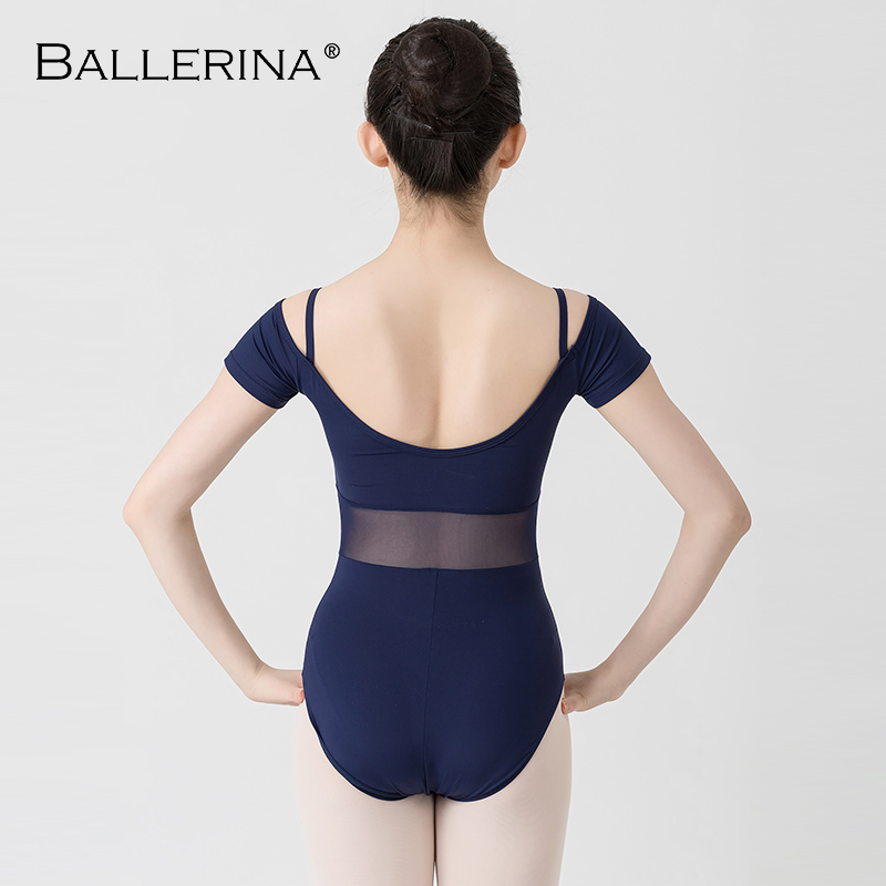 Image 2 - ballet dance Practice short sleeve leotard women Dance Costume gymnastics Sling mesh Leotards Adulto Ballerina 3541-in Ballet from Novelty & Special Use
