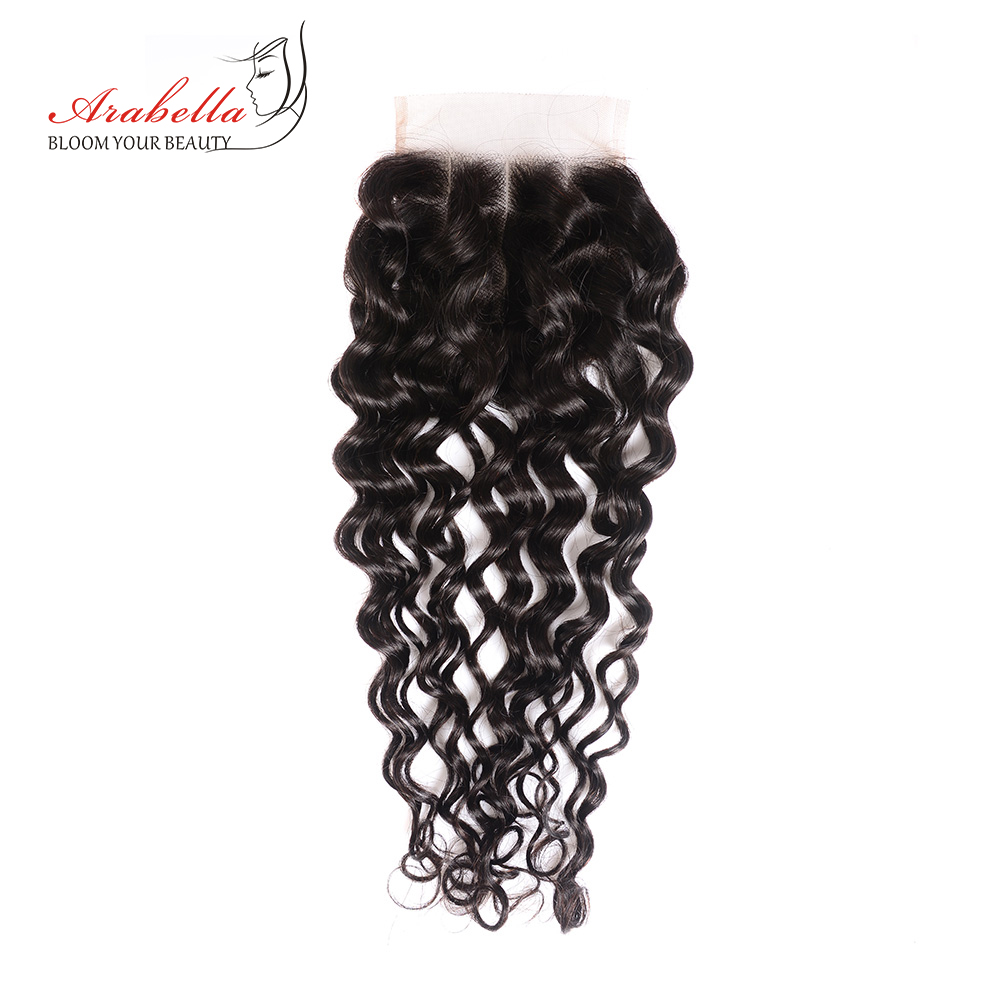 Water Wave Bundles With Closure Arabella  Bundles With Pre Plucked Lace Closure 3 Bundles With Closure 6