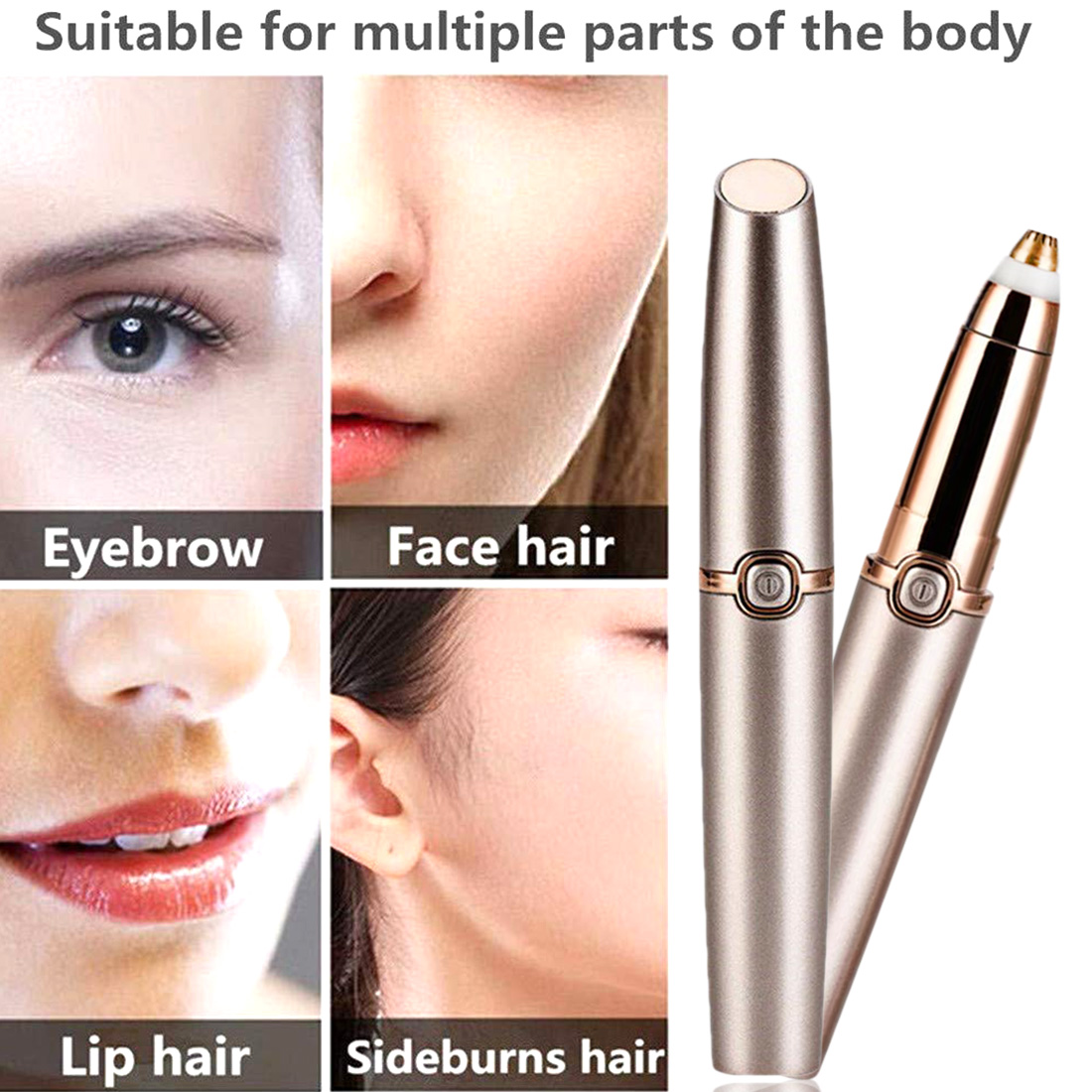 Rechargeable Electric Eyebrow Trimmer Makeup Painless Eye Brow Mini Shaver Razors Portable Facial Hair Remover Women depilator