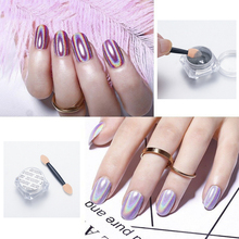 0.5g/Box Top-grad Holographic Nail Powder Glitters Holo Laser Rainbow Nail Powder Chrome Dust Manicure Nail Art Decorations 1bag lot 0 3mm shiny glitters colored nail art glitters decorations graceful eyeshadow powder glitters cosmetic makeup tools