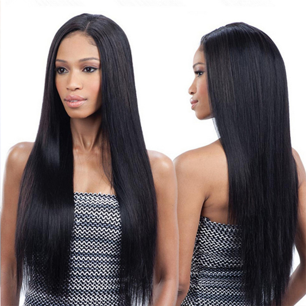 Brazilian Human Hair Wigs Straight Full Lace Wigs With Baby Hair 130% 150% 180% Density For Women
