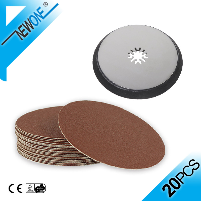 NEWONE 115mm Round Sanding Pad With 5 Inch Sandpaper Disc Oscillating Saw Blades Polishing Accessories For Polisher