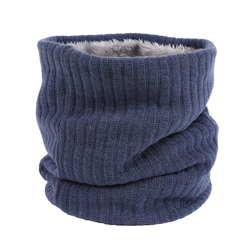 and winter velvet knitted neckband couples outdoor warm pure-color men and women 100 sets of Korean version head scarf