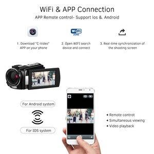 "Image 4 - ORDRO מצלמת וידאו 4K WiFi מצלמת וידאו דיגיטלי DV 30MP 16X 3 ""IPS מסך מגע 0.39X רחב זווית עדשה + מיקרופון + לן הוד + מחזיק משלוח על ידי DHK"