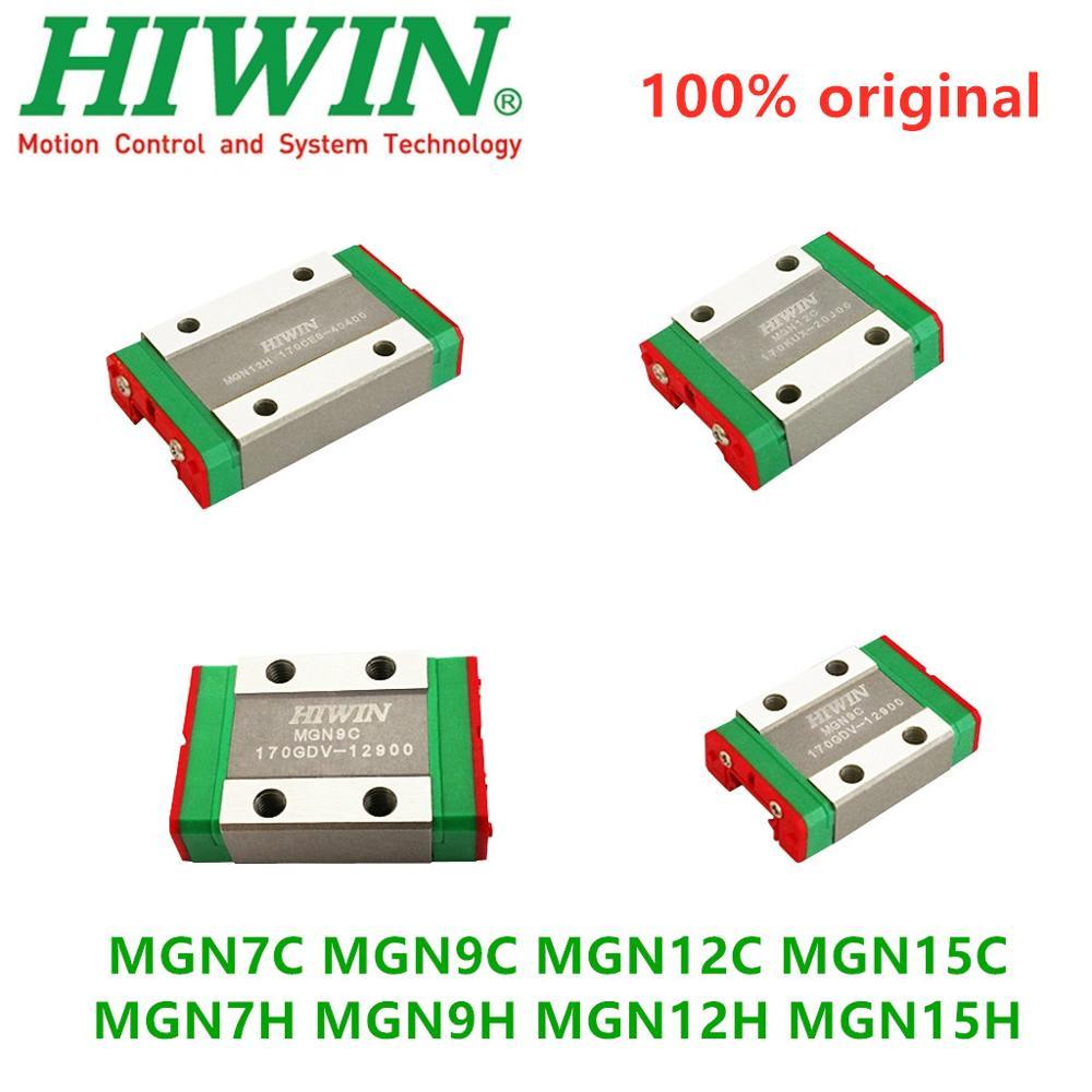 4pcs Original Hiwin Mini Linear Blocks Carriages MGN7C MGN9C MGN12C MGN15C MGN7H MGN9H MGN12H MGN15H For CNC Linear Guide