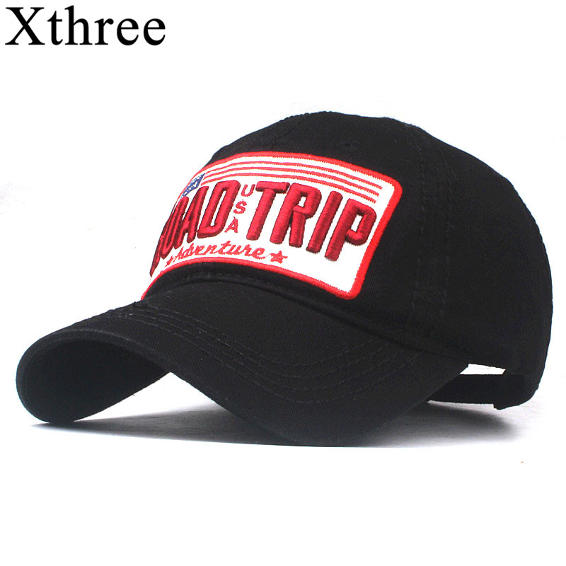Xthree Cotton Baseball Cap Women Casual Snapback Hat For Men Casquette Homme Road Trip Embroidery Gorras Bone Cap For Women