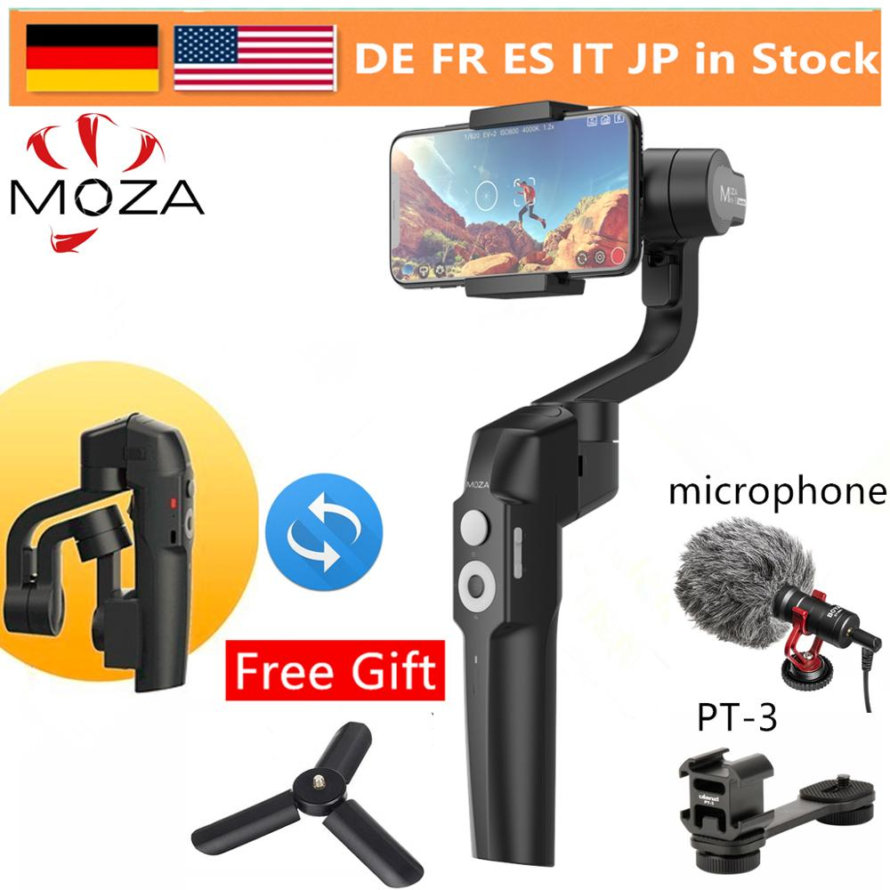 Stabilisateur de cardan portable 3 axes pliable MOZA Mini S pour iPhone X Samsung S8 Huawei P30 Smartphone GoPro VS MINI MI lisse 4