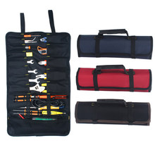 2PCS/1Set Roller Tool Bags Oxford Canvas Practical Handles Bags Chisel Electrician Carrying Tool kit Instrument Package Case