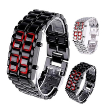 Binary LED Digital Wrist Band Matching Watch for Couple Fashion Creative Gift FEA889