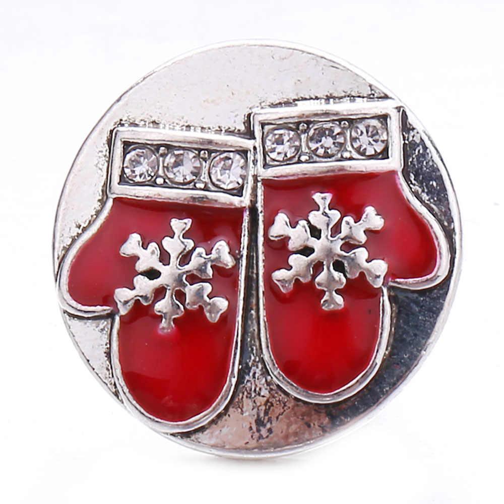 5 unids/lote, Nueva joyería a presión, botones a presión de 18mm, botón de presión de corazón de diamantes de imitación de alta calidad para mujer, pulsera de cuero a presión