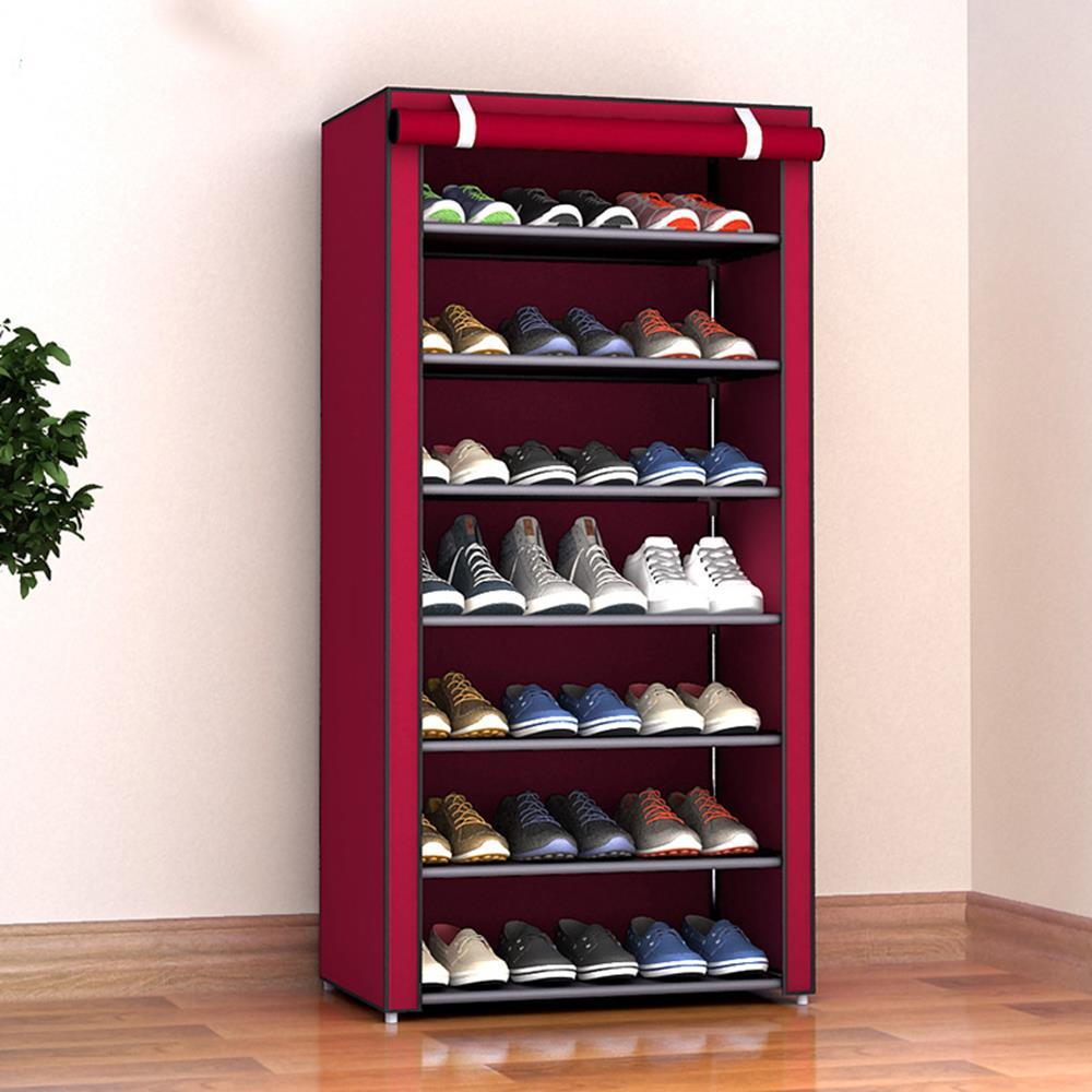 Shoe Rack Shoe Cabinet Multi-Layer Non-Woven Fabric Slipper Housekeeping Shoes Hanger Home Organization Space Save Shoe Shelf