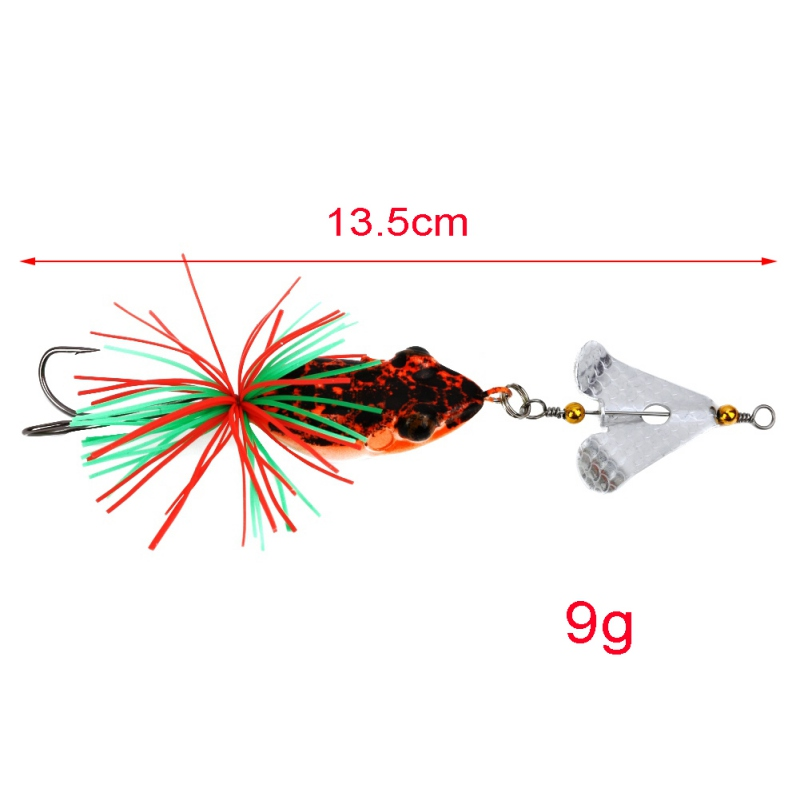 1PCS Fishing Lure With Propeller Large Noise Isca Frogs Lure  Pesca Frogs Sinking Snakehead  Fishing Bait 135mm 9g ZJ 2