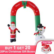 240cm Inflatable Arch Santa Claus Snowman Christmas Outdoors Ornaments Xmas New Year Party Home Shop Yard Garden Decoration
