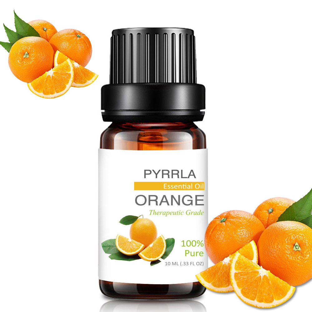 Pyrrla 10ml Sweet Orange Pure Essential Oils For Aromatherapy Humidifier Purifying Air Refreshing Massage Essential Oil Cedar