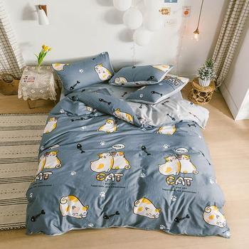 Svetanya Sheet Pillowcase Duvet Cover Cartoon Bedding set Cotton Bed Linens