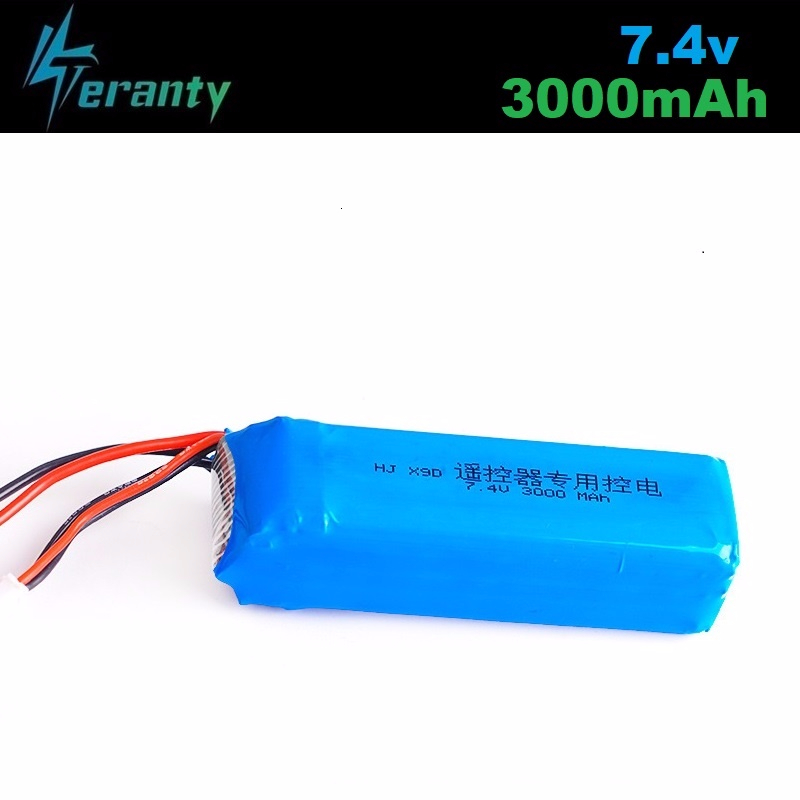 Upgrade <font><b>3000mAh</b></font> 7.4V Rechargeable <font><b>Lipo</b></font> Battery for Frsky Taranis X9D Plus Transmitter <font><b>2S</b></font> 7.4V <font><b>Lipo</b></font> Battery Toy Accessories 1pcs image