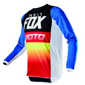 2020 de los hombres de abajo camisetas hpit fox bicicleta de montaña MTB camisas Offroad DH Jersey Motocross ropa deportiva ropa