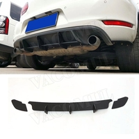 High Quality ABS Rear Lip diffuser Trim For Volkswagen VW Golf 6 VII MK6 GTI R20 Fins Shark Style Back Bumper Guard Car Styling