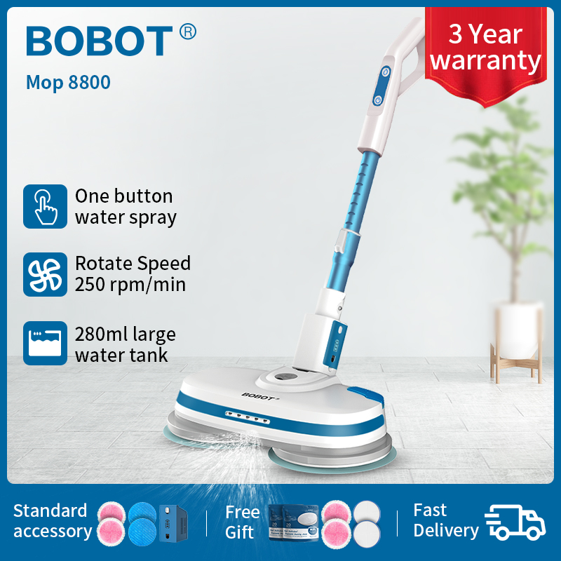 BOBOT MOP 8800 Cordless Electric Floor Mop Sweeping And Waxing, Electric Spray Water  Mop Sweeper