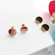 The unique creative geometric shapes and colorful assembling only beautiful womens fashion earrings wholesale trend