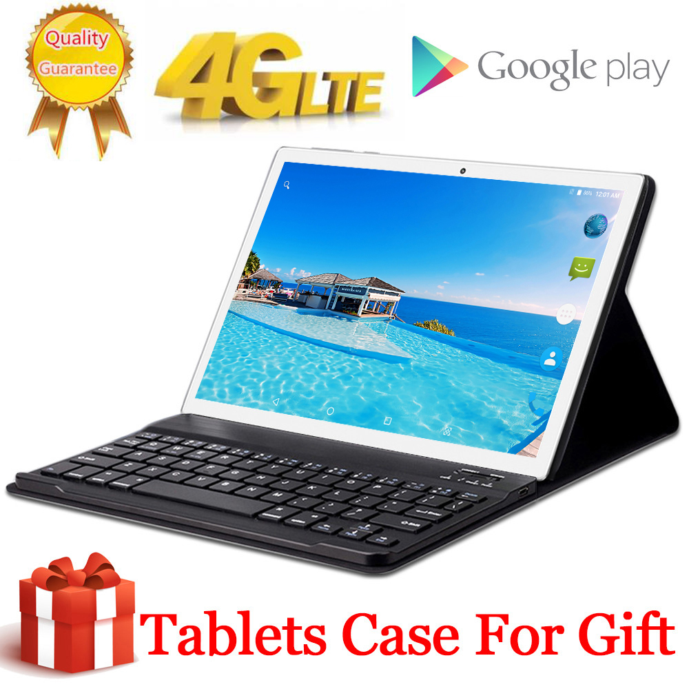 8000mAH Free Gift Tablet Case Cover 4G LTE 10.1 Inch 2.5D Tablet Pc 10 Deca Core MT6797 8GB RAM 256GB ROM 2560*1600 Android 8.0