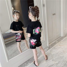 Floral Girls Clothing Sets 2019 New Fashion Kids Baby Girl Princess T shirt+Short Pants Outfits Clothes Sets Cotton Girls Suit humor bear girl dress tassel style girls clothes t shirt pants kids clothing set girls clothing sets baby kids clothes
