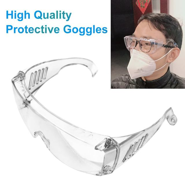 2PCS Safety  Glasses Anti Fog Dust Proof Windproof Protection Goggles Eyewear for Flu Car Accessories Transparent Eye Masks