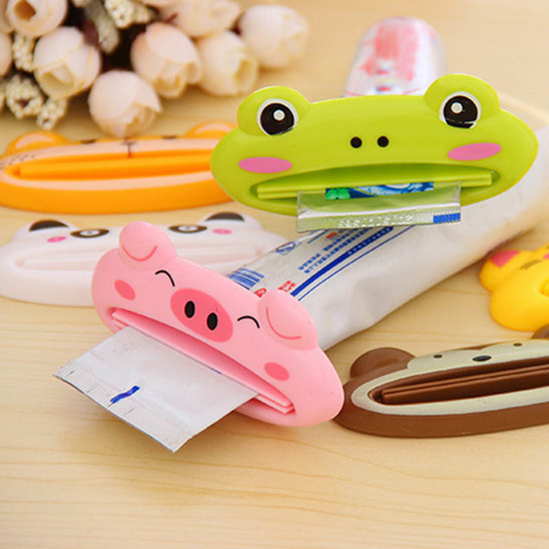 2 Cartoon Toothpaste Squeeze Clips Easy Squeeze Cream Toothpaste Dispenser Bathroom Accessories Children's Gifts