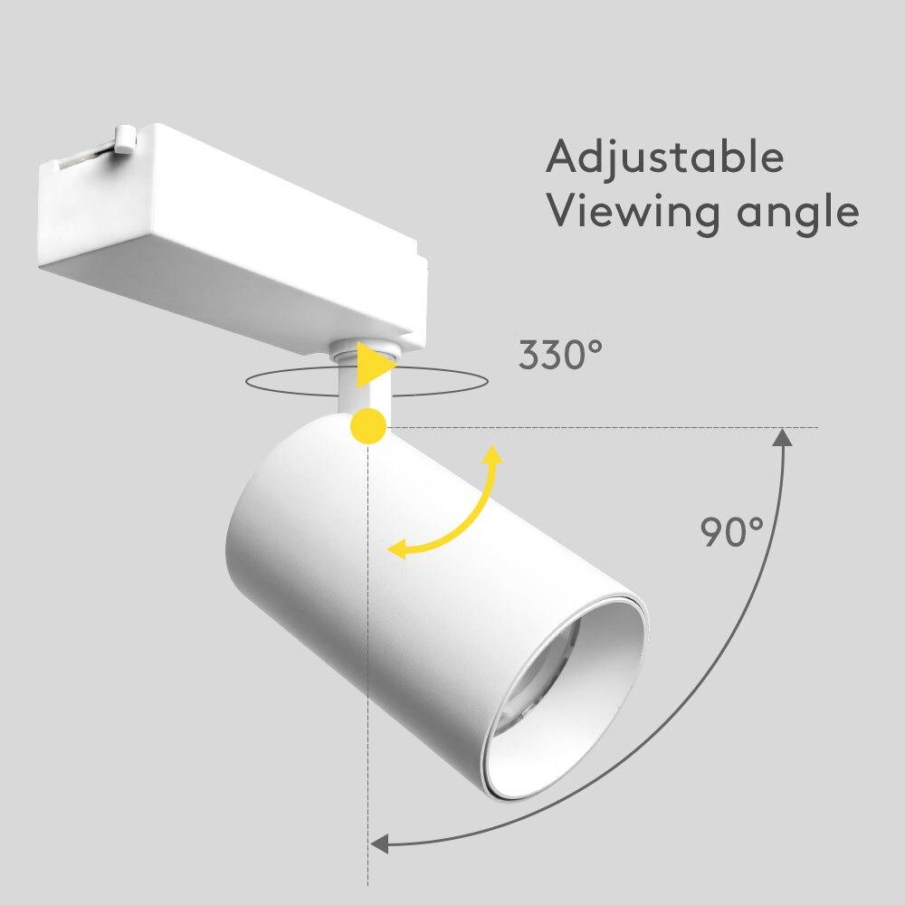 Aluminum Housing COB LED Track Light 35W 220V 230V Adjustable Rail Lighting 1 3 Phase Spot Lamp Museum Kitchen Clothing Store