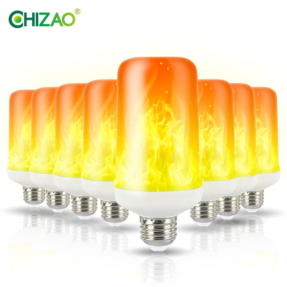 CHIZAO Flame Effect Decorative Bulb LED Dynamic Flame Light E12/14/26/27 Creative Corn Bulb Flame Simulation Effect Night Light