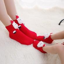 Family-friendly ladies Christmas print Acrylic Keep Warm Comfortable  Cartoon Thick Socks L0902