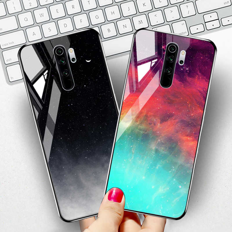 Tempered Glass Case untuk Xiaomi Redmi Note 8 Pro Case Catatan 9 S 9 PRO 7 8T 8A 7A mi 9T A3 8 9 Se Lite A2 Catatan 10 Pocophone F1 K30