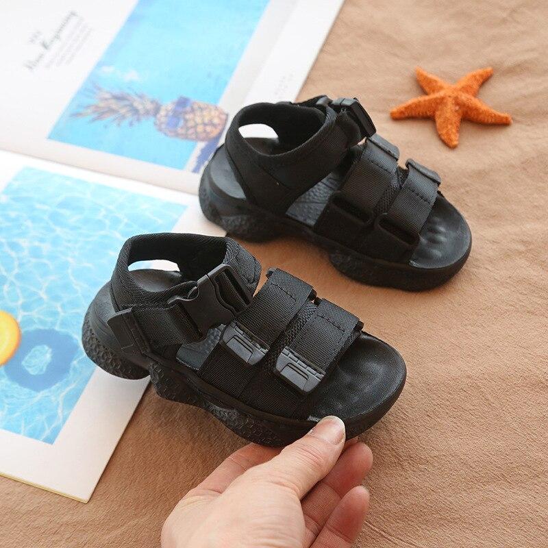 SKHEK Boys Girls Sandals Shoes For Children Gladiator Glitter  Beach School Shoes 2018 New Roman Sandals Girl Boy