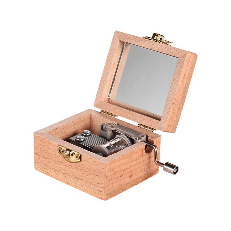 Wooden Hand Crank Music Box Classical Melody Birthday Christmas Festival Musical Gifts Home Office Decoration Crafts